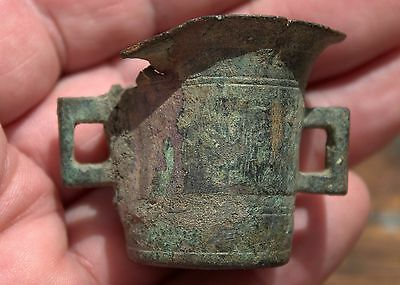 Small Ancient Celtic Bronze Cup Artifact Very Rare! Circa 1st Century BC