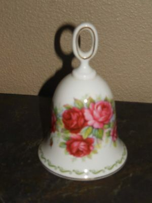 """Queen's ~ Special Flowers ~ """"Rose"""" ~ Bone China ~ Bell"""