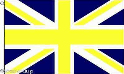 Union Jack (Blue & Yellow) Flag 5ft x 3ft (150cm x 90cm) flag Banner