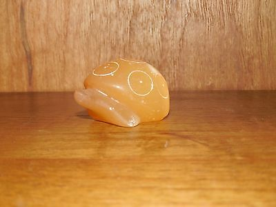 "Hedgehog ~ Vintage ~ 1"" ~ ? Glass / Marble / Stone ?"