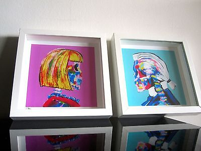Anna Wintour Fashion Week Karl Lagerfeld Pop Art Kunst - Vogue - Chanel signiert