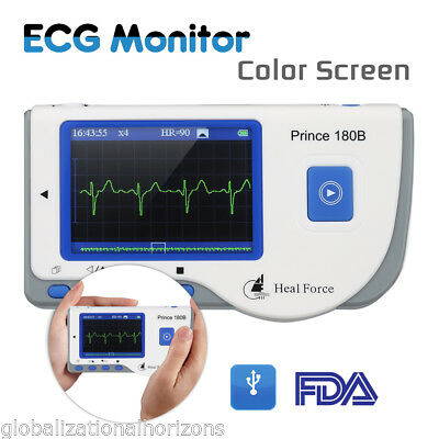 Heal Force Prince 180B Handheld Easy ECG EKG Portable Heart Monitor FDA Approved