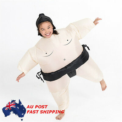 AU Inflatable Sumo Wrestling Costume For Kids Fancy Dress Outfit Wrestler Suit