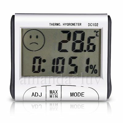Mini Digital Thermometer Humidity Meter Room Temperature LCD Hygrometer DC102 US