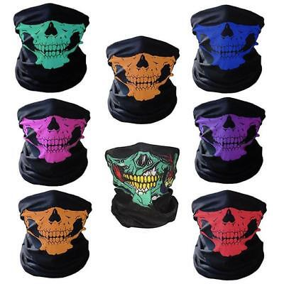 Skull Face Mask- Neck Tube Scarf Snood Balaclava- Ski Cycle Biker Bandana LC