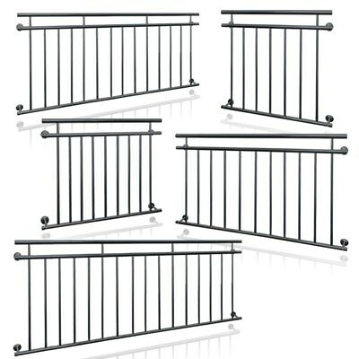 Juliet french anthracite balcony grilles security grid balustrade 90 x 100-225cm