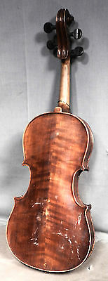 Antique USED AS IS TO RESTORE ¾ Violin Tiger Maple Germany SWEET