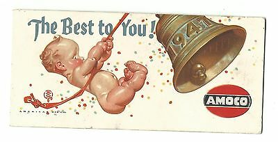 1947 AMOCO Advertising Premium Blotter Best You New Year's Greeting American Oil