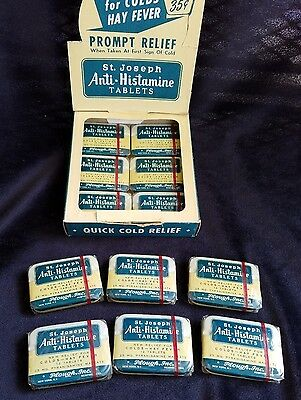 Old Advertising Store Medicine Display St Joseph's Anti-Histamine Tablets NOS