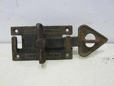 Antique Allith Mfg. Co. Cast Iron Barn Door Arrow Latch #1