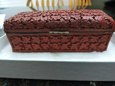 vintage  Chinese CINNABAR? LACQUER WARE