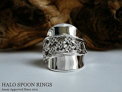 Stunning & Chunky Ladies Swedish Silver Spoon Ring 1986 * Last One Available!! *