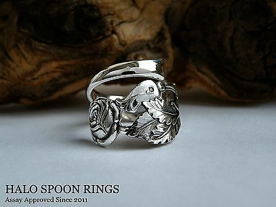 Very Pretty Trailing Rose Swedish Silver Spoon Ring 1922 Last One Available!!!