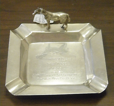 Sterling Wilmington Horse Show Trophy Ashtray 1935