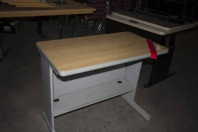 LOT of (20) Computer Tables- Wood Top/Metal Base