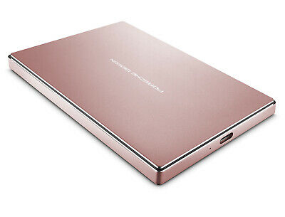 LaCie Porsche Design 2TB USB-C Mobile Hard Drive, Rose Gold (STFD2000406)