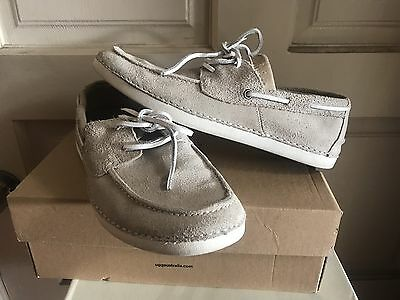 New/box  Ugg Australia  M Murray  Mens Leather Boat Loafers Shoes 10 1007086