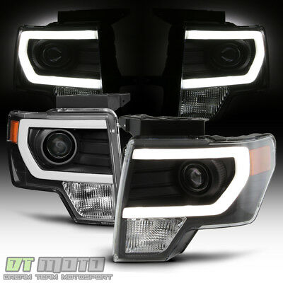 2014 F150 Headlights >> New Black 2009 2014 Ford F150 Raptor Led Tube Drl Projector