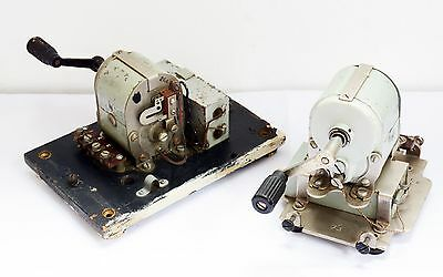 2 Vintage Unknown Machines with Crank Handles. Motor / Generating. GPO? Electric