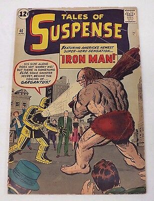 Tales of Suspense Issue #40 2nd Appearance Iron Man / FR/GD Fair/Good 1.5 Marvel