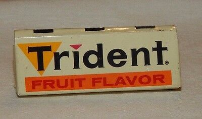 Vintage Trident Fruit Flavor Gum Metal Advertising Rack Sign