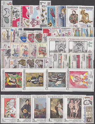 CZECHOSLOVAKIA - 1986-1992 COMPLETE COLLECTION with SHEETS !! - **MNH** CHEAP !!