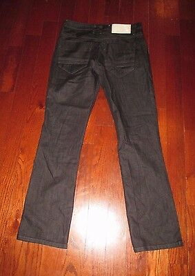 FIVE FOUR mens SZ 29 x 31 black wash ORIGINAL STRAIGHT denim jeans