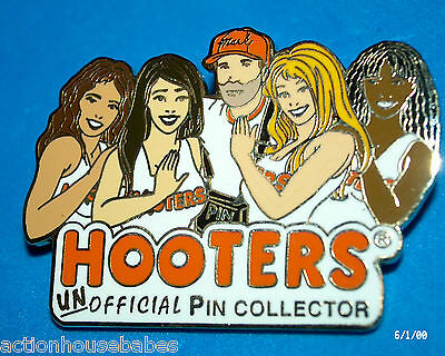 Hooters Restaurant Un Official Pin Collector's Dream Pin With 3 Hooters Girls