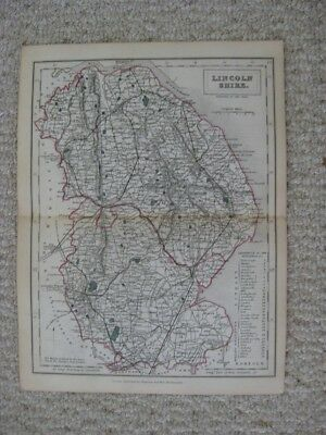 Antique 1842 Lincolnshire County Stamford Newark England Handcolored Map Fine Nr