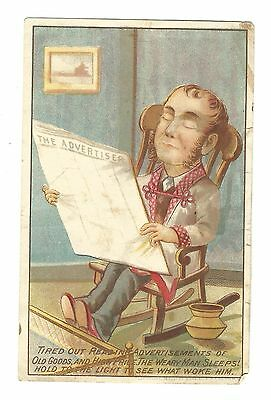 Old Hold To Light Trade Card Union Club Coffee Lincoln Seyms Hartford CT