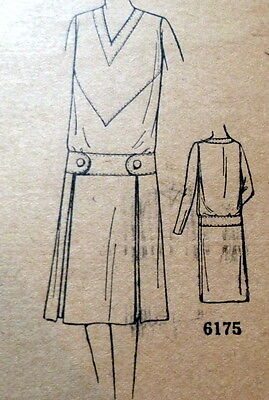 RARE VTG 1920s DRESS Sewing Pattern 18/36 OLD DEADSTOCK