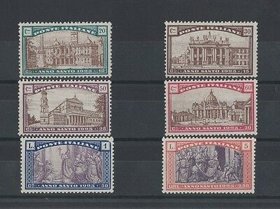1924 Italy Holy Year SG 172/7 mlh fresh set of 6