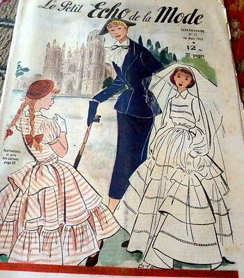 *VTG 1951s PARIS FASHION SEWING PATTERN MAGAZINE PETIT ECHO de la MODE Catalog
