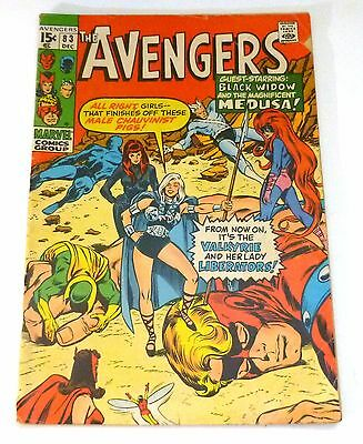 THE AVENGERS No. 83 December 1970  FINE 6.0  Marvel Comics · Valkyrie