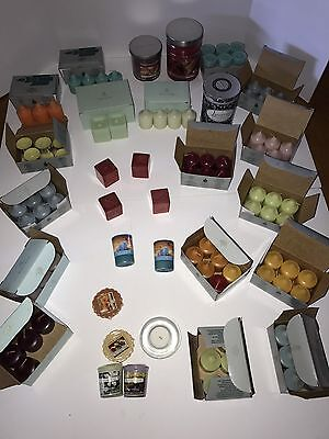 82 PartyLite Candles! Bulk Lot Mulberry Lavender Berry Pear Lemongrass  + Extras