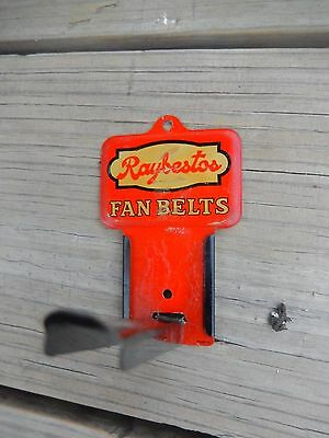 VTG HOT ROD ORIGINAL RAYBESTOS Fan Belt GARAGE Hanger Sign Gas Service Station