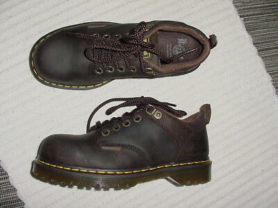 Authentic Dr Martens Industrial Steel Toe Brown Oil Oxfords Shoes Uk 6 M 7 W 8