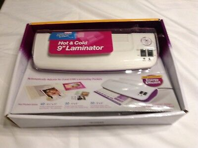 Purple Cows Hot and Cold Laminator - Includes 100 (3 mil) Hot Pockets Assorted