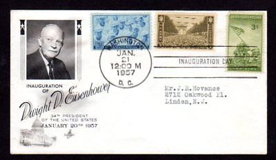 Eisenhower 1953 Inaugural Cover - Artcraft Plate Number Combo