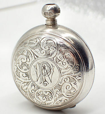 Antique 1894 Sterling Silver Sovereign Holder/Case by Alfred Wigley