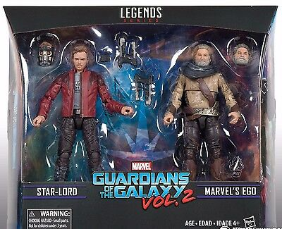 Guardians of the Galaxy Vol. 2 Marvel Legends Star-Lord and Ego Action Figures