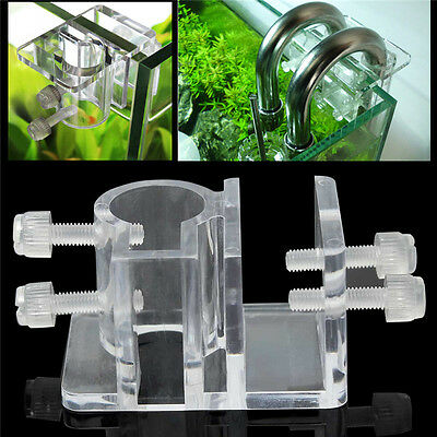 Acrylique Aquarium Tuyau Tube Fixation Support Derrage Clip Dia 25mm Water Pipe