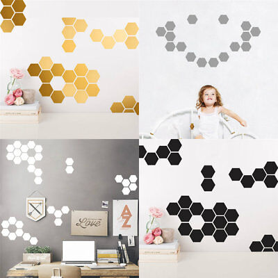 New Hot Personalized Hexagon Vinyl Art Wall Sticker Decal Home Decor