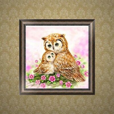 DIY Owl Animal 5D Diamond Embroidery Painting Rhinestone Cross Stitch Home Decor