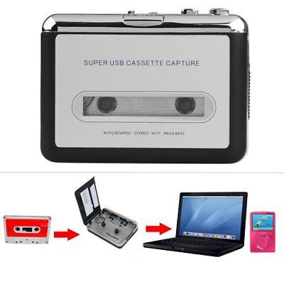 Cassette Tape Converter to MP3 CD Converter Capture Music Player with Earphone