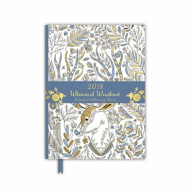 2018 Whimsical Woodland Creative Colouring Diary - Light Blue