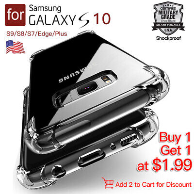 Shockproof Clear Cover Samsung Galaxy S8 S10 +S10E Plus Case S9 S7 Edge Note 8 9