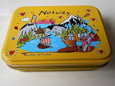 Playing Cards  Norway New In Tin Container