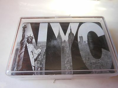 Playing Cards New York City  Contents Are Sealed In Solid Plastic Box