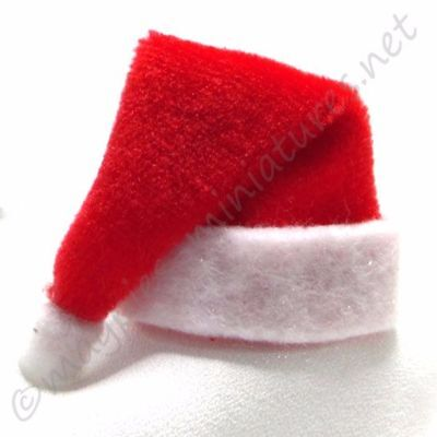 dolls house 12th scale Red Christmas Santa Hat